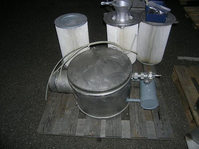 Used Ventilator house with pressure regulating equipment + filter elements, type NAF 4