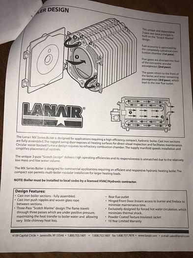 Lanair MXB250 Waste Oil Boiler MXB250