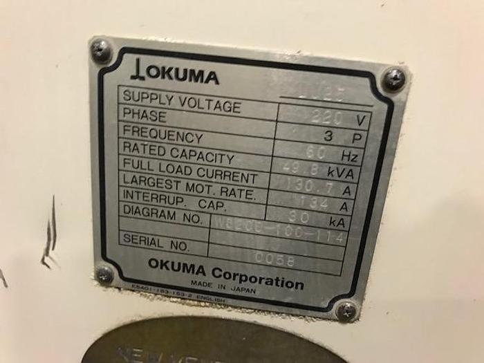 1995 OKUMA LU25 CNC LATHE, Twin Turret, Tailstock,OSP7000L Control LU25