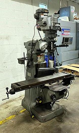 """Used 3114, Bridgeport, 9""""x48"""" Series I, Vertical Miller Power feed table & Accurite DRO, 1995"""