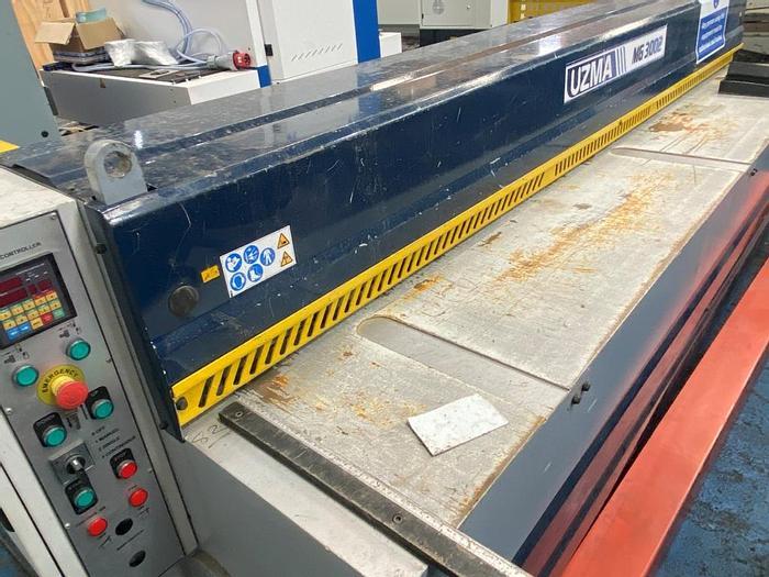 Used 2018 Uzma MG 3002 Mechanical Guillotine Shears