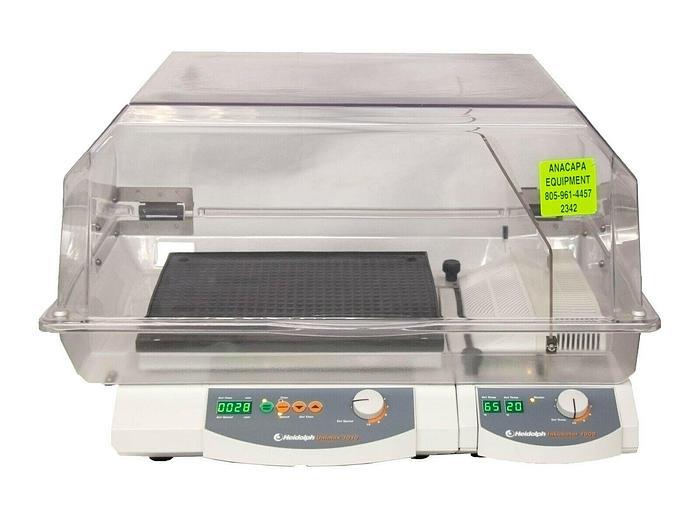 Used Heated Incubator Shaker Heidolph 1010 DT Unimax Platform High Hood Used (2342)
