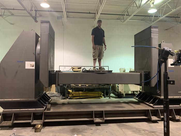 PEMA MODEL 5000 CR 11,240 LB CAPACITY 4TH & 5TH AXIS DROP CENTER WELDING POSITIONER OR FOR MACHINING APPLICATIONS