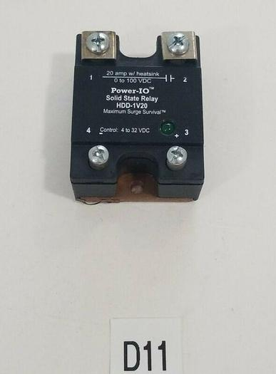 Used *PREOWNED* Power-IO Solid State Relay HDD-1V20 + WARRANTY & FREE SHIPPING!