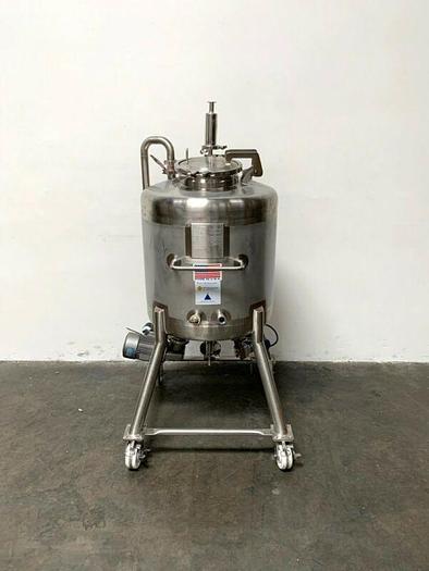 Used ITT Industries 200 Liter Stainless Steel Tank w/ Bottom Magnetic Mixer & Sensor