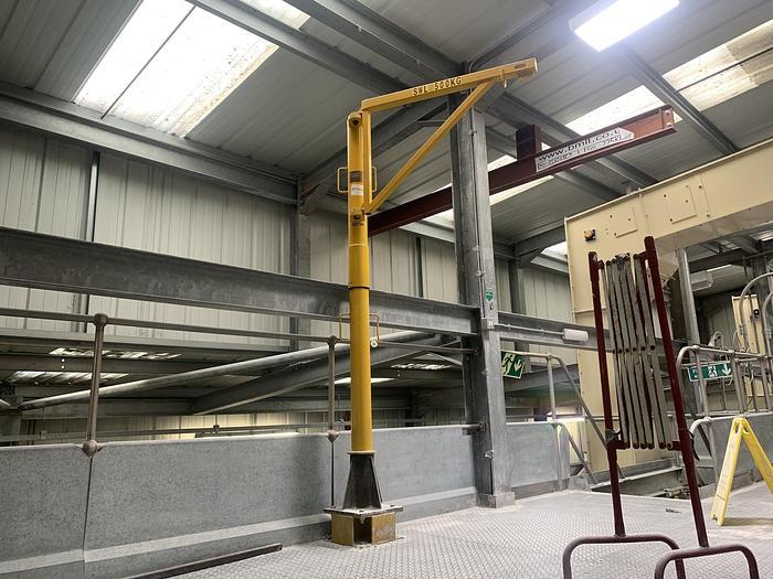 Used DIDSBURY ENGINEERING 500 Split Pillar Minilift Lifting Davit