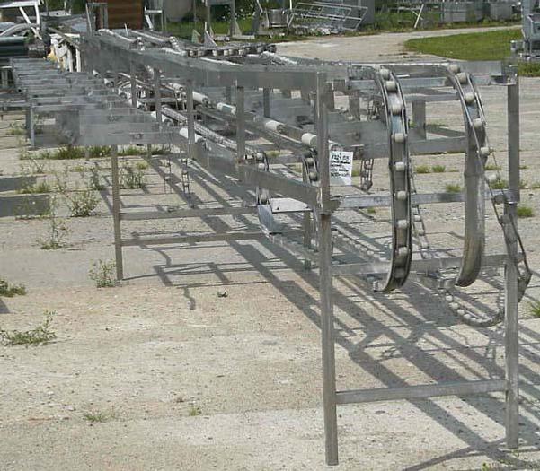 Używane Linia obróbki ręcznej - przenośnik (transporter) łańcuchowy