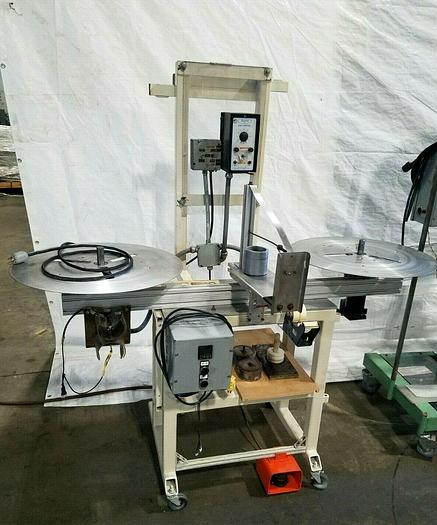 Used Double Motorized Stock Material Reel Transfer System Winding Wound Machine