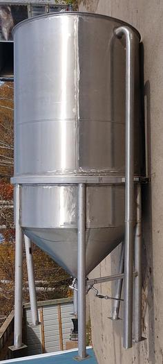 Used 1500 Gallon Stainless Steel Jacketed Cone Bottom Tank