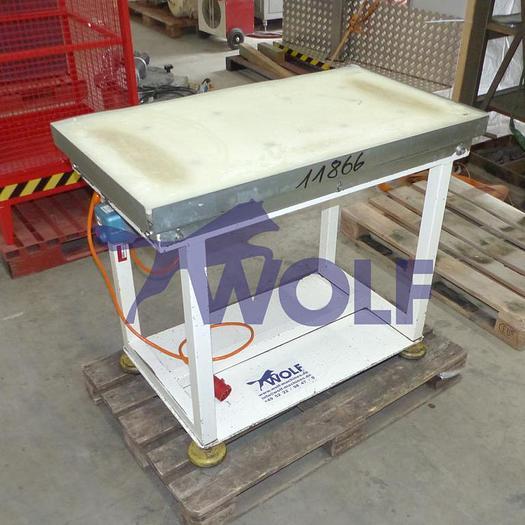 Gebraucht Vibrationstisch mit Kunststoffauflageca. 1100x620x890mm (Länge x Breite x Arbeitshöhe).