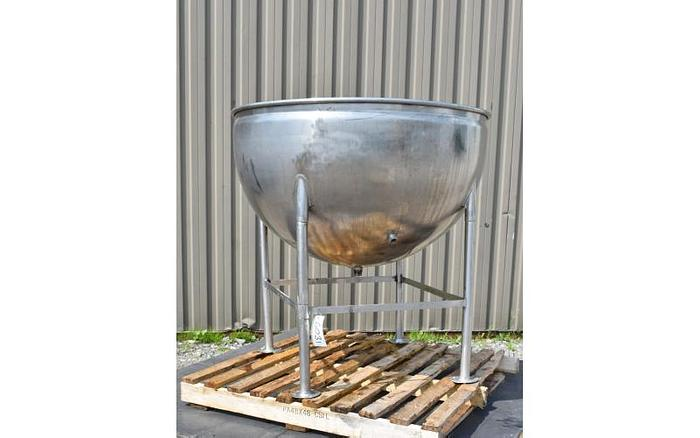 USED 125 GALLON JACKETED KETTLE, STAINLESS STEEL