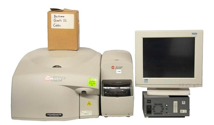 Used Beckman Coulter Cell Lab Quanta SC Flow Cytometer, 771917 Laser, Arc, MPL (3390)