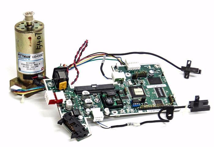 Used ASYST PC Board 9701-1057-01 w/ Pittman Motor LO-COG 9700-8861-01 Rev. A (4238)