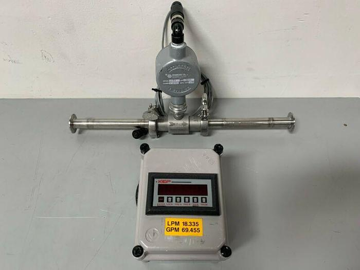 "Used Sponsler SP714 Explosion Proof Amplifier w/ 21"" Turbine Flow Meter"