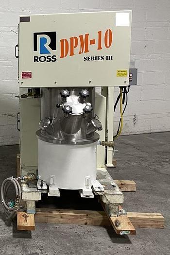 Used 10 GALLON ROSS DOUBLE PLANETARY MIXER – DPM 10 –  S/S – VAC – JKTD. (#9690)