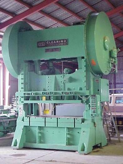 Used 250 Ton Clearing Model S2-250-84-48 Straight Side Press; Double-Crank; Single Back Geared