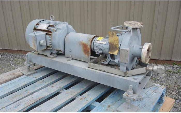 "USED CENTRIFUGAL PUMP, 1.5"" X 1"" INLET & OUTLET, CAST STAINLESS STEEL"