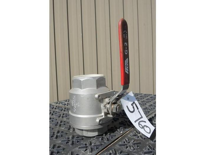 "USED BALL VALVE, SIZE: 3"", CAST STAINLESS STEEL"