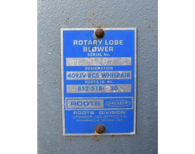 USED ROOT ROTARY LOBE BLOWER, 600 CFM
