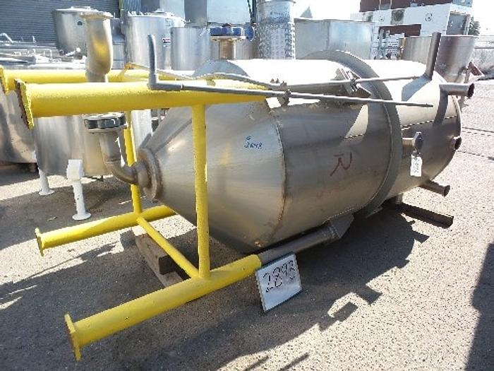 Used 850 Gallon Vertical Stainless Steel Tank #2898