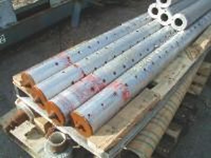 "Used 100"" Tidland winding bar, 6"" diameter, (4 each)."