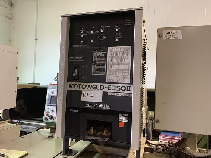 2005 MOTOMAN EA1400N 3KG X 1390MM REACH 6 AXIS CNC ROBOTIC DUAL ARM DUAL TRUNION WELD CELL EA1400N