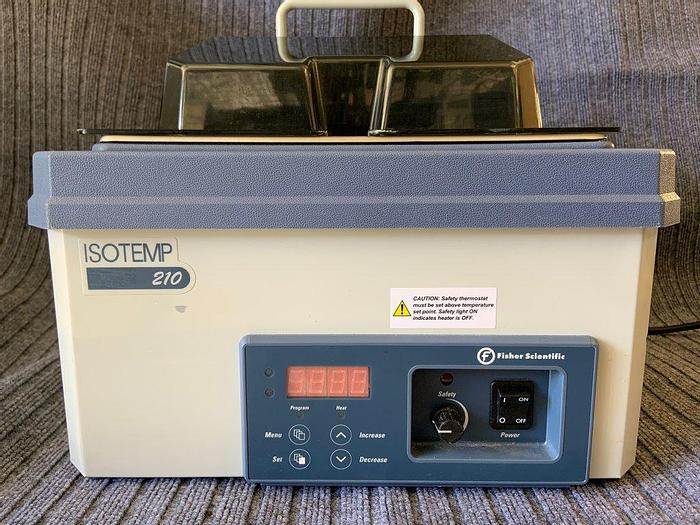 Used Fisher Scientific Isotemp 210 Digital Water Bath with Lid