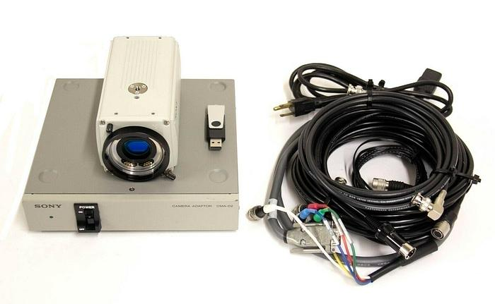 Used Sony DXC-9100P Progressive 3CCD Color Video Camera w/ CMA-D2 Power Supply 9004 R