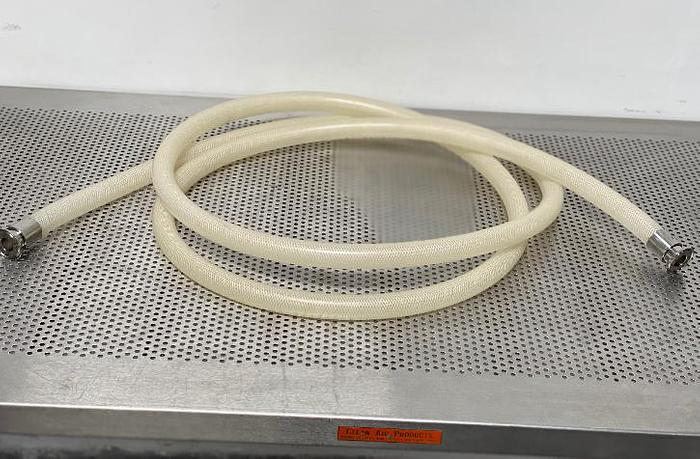 "Used Flexible Silicone Hose 192"" w/ 1 1/2"" Stainless Steel Sanitary Fittings"