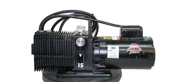 Used Alcatel 2015CP Pascal Vacuum Pump, W/ Franklin Electric Motor Working (7777) W