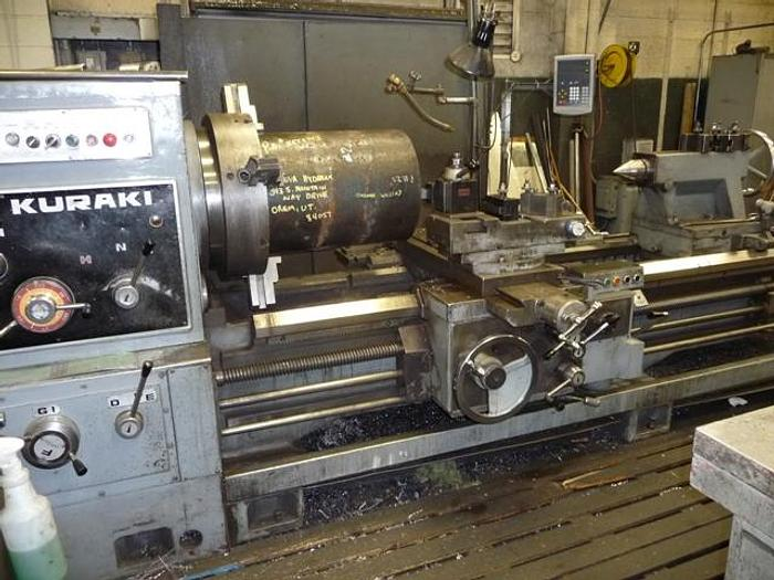 "Used 1979 Kuraki Oil Country Lathe, LC 403, 34"" Swing, 120"" Centers, 12.6"" Hole, 350 RPM, 30 HP, Taper Attachment, Inch/Metric Threading"