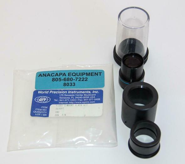 Used World Precision Instruments 503097 C-Mount to Eyepiece Adapter Kit Video (8033)W