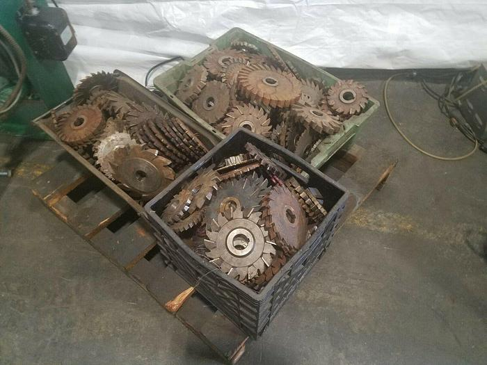 Used Assorted Cutters for Horizontal Milling Machine Full Lot one price