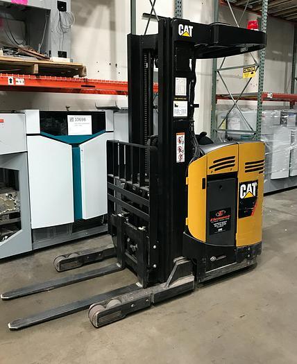 Used Caterpillar NR3000-24V Stand Up, Reach Forklift, Compact Model (Serial No. 2NR2809703) NR3000-24V