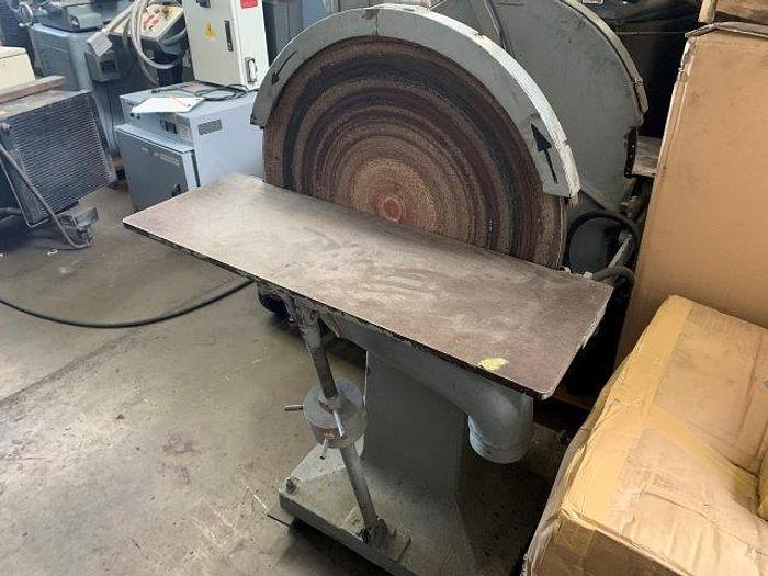 """Used CRESCENT, No. 24, 24""""Dia, DOUBLE DISC GRINDER [5336]"""
