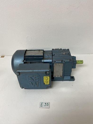 Used Sew-Eurodrive DFT71C4 TEFC 3PH .33HP 230/460V W/ R17DT71C4 13.84 Ratio Warranty!