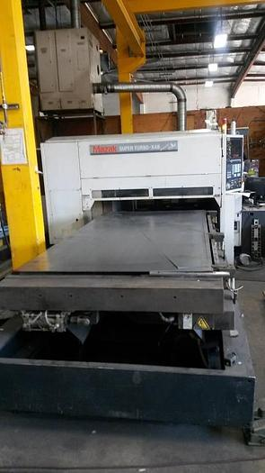 MAZAK 1300 WATT SUPER TURBO - X - 48 CNC LASER METAL CUTTER YB-L130A 8M