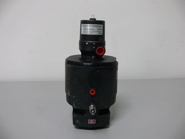Used Saunders EC Piston Actuator 8 Bar 33750 w/ Opti-Set Switchbox M0E-N0M12/3