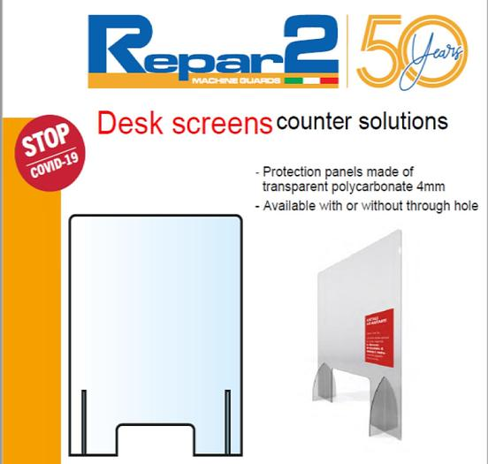 Repar2 DK/SCR2 Desk and Counter Protection Screen
