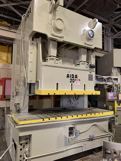 220 ton AIDA 2pt. Gap Frame Mechanical Press