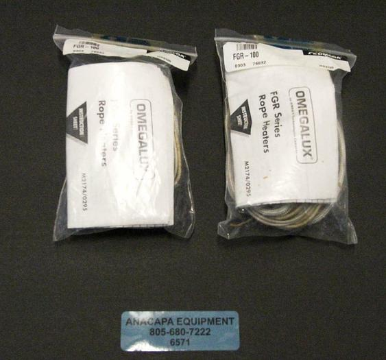 Omega Omegalux FGR-100 Rope Heater 10-Foot Length 125 W 120 V NEW LOT OF 2 (6571