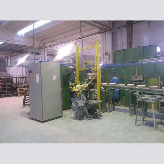 Used Automatic line for salad bowls and flatware production NETZSCH