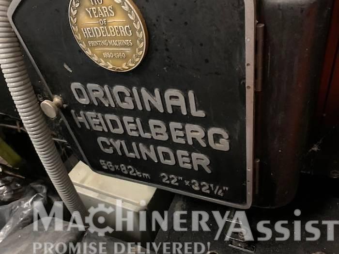 Used Heidelberg SB Cylinder 56x82 Diecutter Letterpress