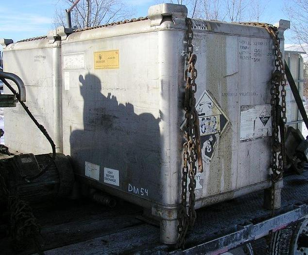 Used Clauson Stainless Steel Tote Tanks, 345 Gal