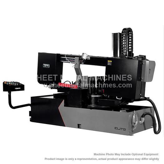 Used JET ELITE ECB-1833DMEVS-230 Semi-Automatic Dual Mitering EVS Bandsaw 230V, 3Ph 891170
