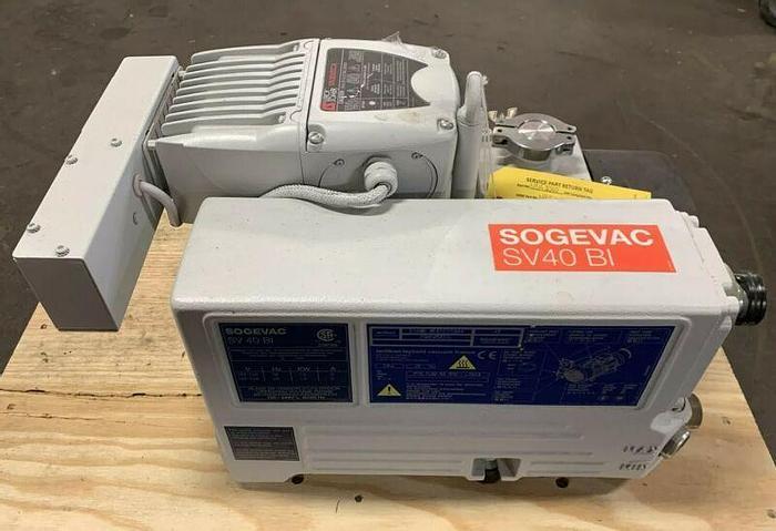 Used Oerlikon Leybold SOGEVAC SV40 BI Oil Sealed Rotary Vane Vacuum Pump 200-240V