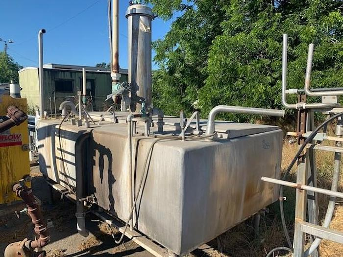 Used 2 Tank Stainless Steel CIP System