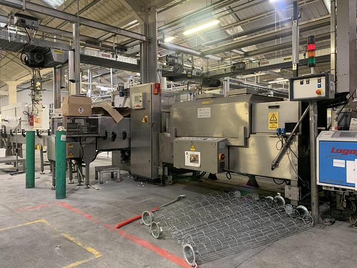 Used 2005 BURNLEY PACKAGING MACHINERY EPE800 Shrinkwrapper and Heat Shrink Tunnel