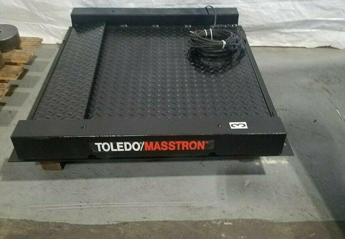 """Used Toledo Masstron Floor Weight Scale 30"""" with ramp (needs readout box)"""