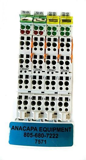 Used Wago 753-474, 753-404/000-005 2 UP Counter Module 16 Bit USED (7571) W